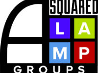 A squared lamp logo color